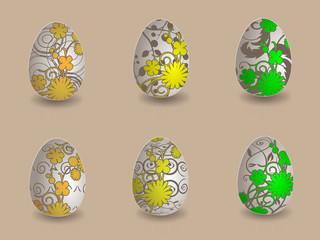 Easter eggs eps10