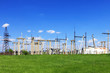 The Substation and Power Transmission Lines. Panorama