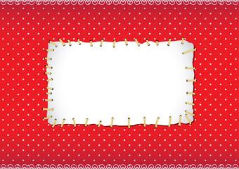 Stitched polka dot frame