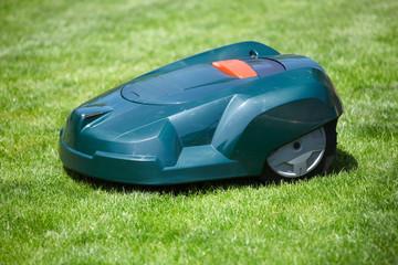 Rasen Roboter im Garten