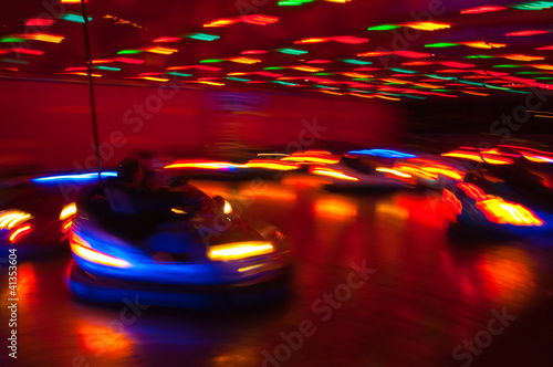 Dodgem Cars at the Fun Fair - 41353604
