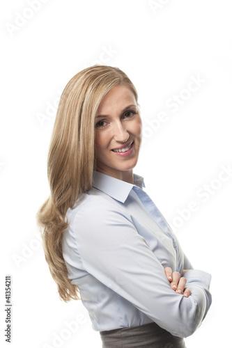 Freundiche Geschäftsfrau