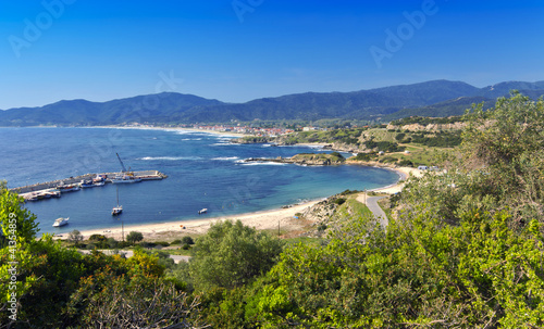 Scenic bay at Halkidiki peninsula in Greece