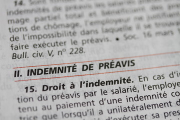 indemnité de preavis