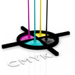 CMYK liquid inks and registration mark