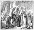 Depicts St. Vincent de Paul and the Daughters of Charity