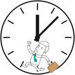 Geschäftsmann, Uhr, Zeitdruck, rennend