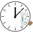 Geschäftsmann, Uhr, Zeitdruck