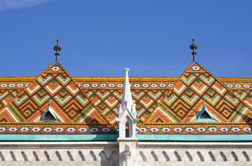 Ceramics Zsolnay tiles in Budapest