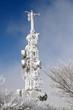 antenna neve ghiaccio inverno televisiva