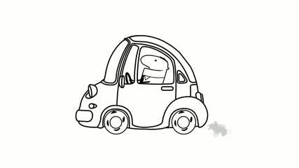 Kartun Geschäftsmann in Auto animation