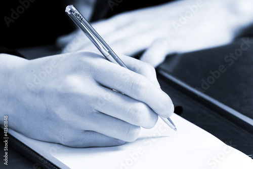 Woman hand writing
