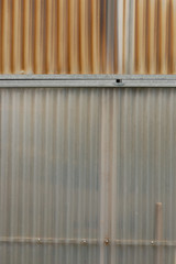 aluminum and corrugated plastic background