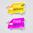Abstract Free Shipping labe sign.