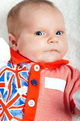 Little British Olympic Team Supporter: newborn girl wearing Brit