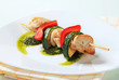 Chicken and vegetable skewer