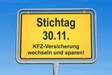 Fototapety Stichtag 30.11. - KFZ Versicherung