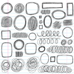 Scribbles Sketchy Doodles Vector Design Elements