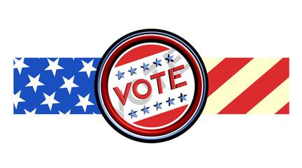 Vote american ribbon