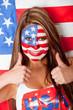 Happy American woman