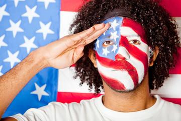 Patriotic American man