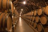 Barriles de vino en la bodega