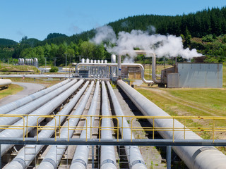 Wairakei geothermal power station in New Zealand