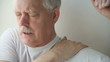 man with painful shoulder