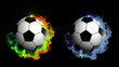 Two Soccer Ball in Particle, with Alpha Channel - HD1080
