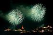 fireworks display at Phra Nakorn Kiri festival Phetchaburi provi