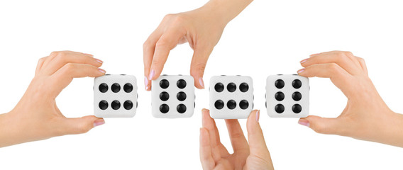 Hands and dices
