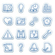 Blue web stickers with icons 11