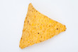Close up of a triangle nacho