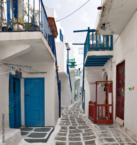 Typical street of Mykonos