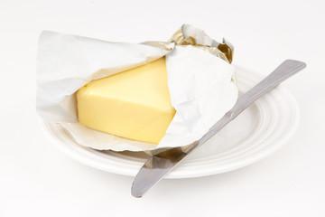 Butter on a saucer