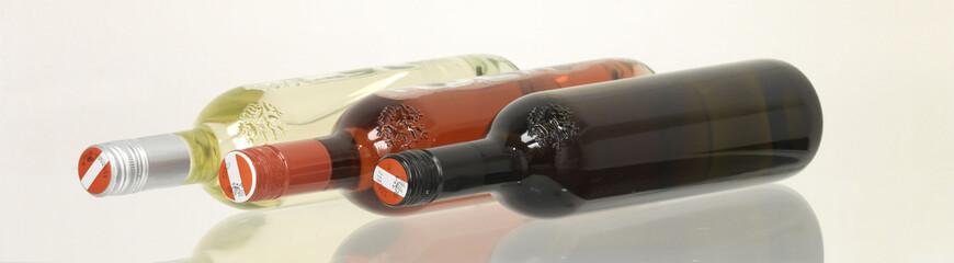 Weinflaschen bunt