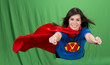 Super Mother on Green Screen