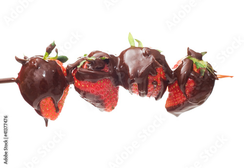 strawberries and chocolate