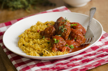 Meatballs with couscous