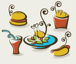 vector collection of unhealthy fast food