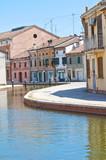 Fototapety View of Comacchio. Emilia-Romagna. Italy.