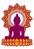 Buddha - Meditation - Vektor - zweifarbig