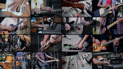 Multiscreen of musicians
