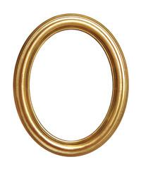 cadre ovale ancien doré