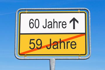 60 Jahre - Jubiläum und Geburtstag