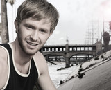 Young man and bridge
