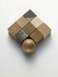 cubes and wooden ball - cubi e sfera di legno