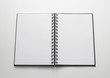 open notebook, white pages - quaderno aperto, pagine bianche