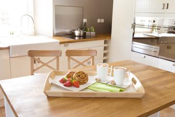 Frühstück in der Küche