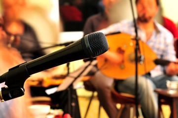 mikrofon, kanun, müzik, konser,